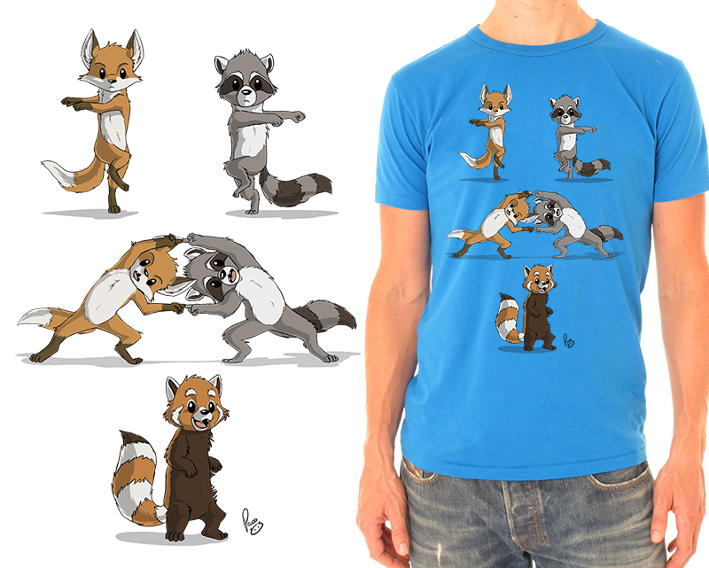 Raccoon T Fusion t-shirt by pand...