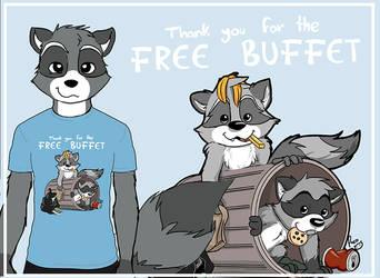 Grateful Raccoons by pandapaco