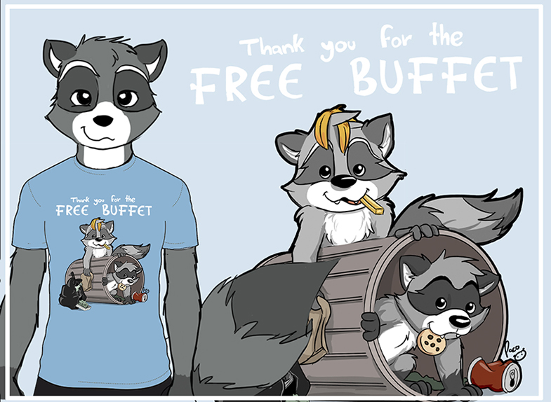 Grateful Raccoons by pandapaco