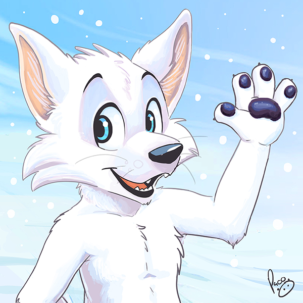 Anthro Arctic Wolf Arctic fox icon by pan...