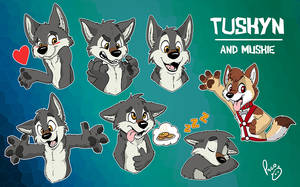 Tuskyn stickers (and Muskie) by pandapaco