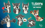 Tuskyn stickers (and Muskie)