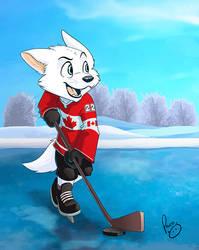 Pent playing Hockey by pandapaco