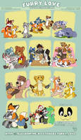 Furry love stickers pack