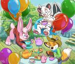 Balloon tea party
