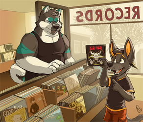 The record store by pandapaco