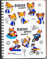 Hukley stickers by pandapaco