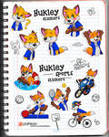 Hukley stickers