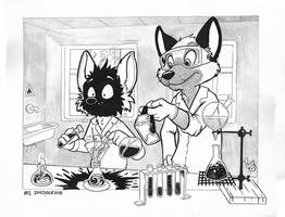 NSFW #Inktober2018 Day 1: Laboratory Problems by pandapaco