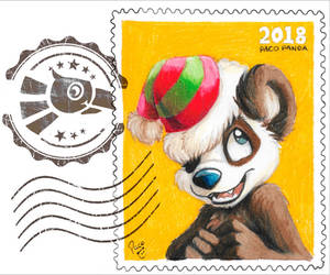 Christmas stamp 2018 by pandapaco