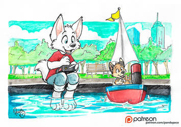 RC boat by pandapaco