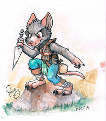 Flicker The Rat by pandapaco