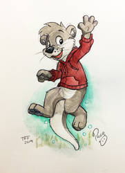 Kipper Otter by pandapaco
