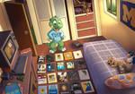 Croc's childhood by pandapaco
