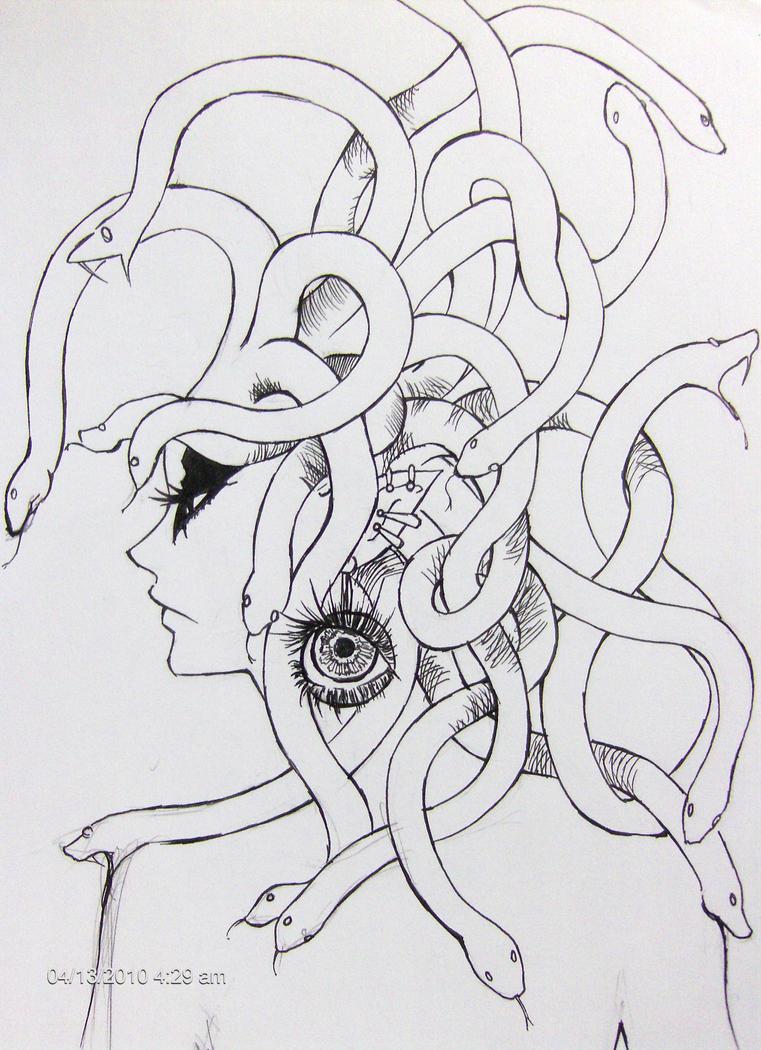 medusa head by benevolent-angel94 on DeviantArt