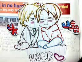 UsUk Chibi Kiss by aileenarip