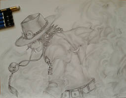 Portgas D. Ace (Finished) by aileenarip