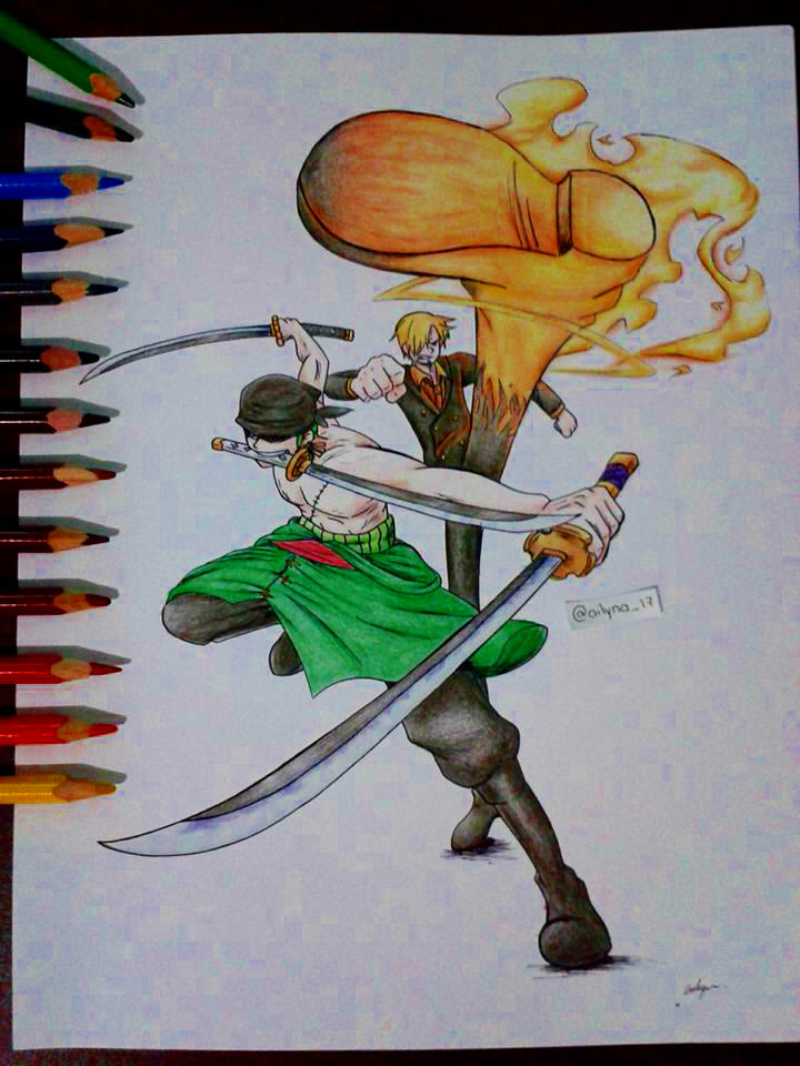One Piece - Zoro and Sanji (two years later) by ...