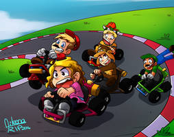 Mario Kart IRL by aileenarip