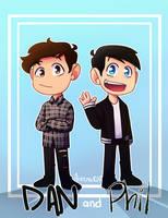 Dan and Phil ! by aileenarip