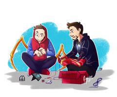 Tony and Peter   Infinity War by aileenarip