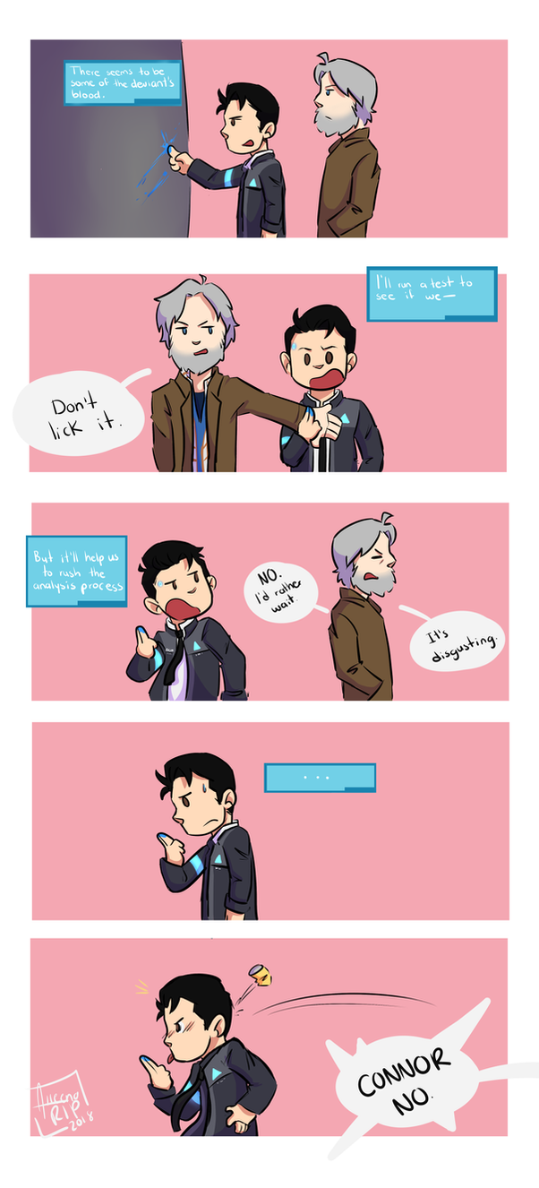 Don't lick it   Detroit: Become Human by aileenarip
