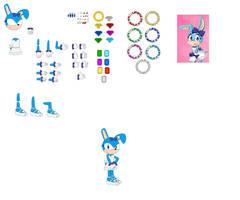 Character Builder Bulma Bunny Sonic OC by jaedenwalton