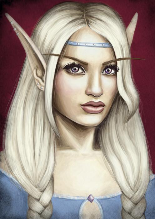 blood elf priestess by iMMuhUnic0rn