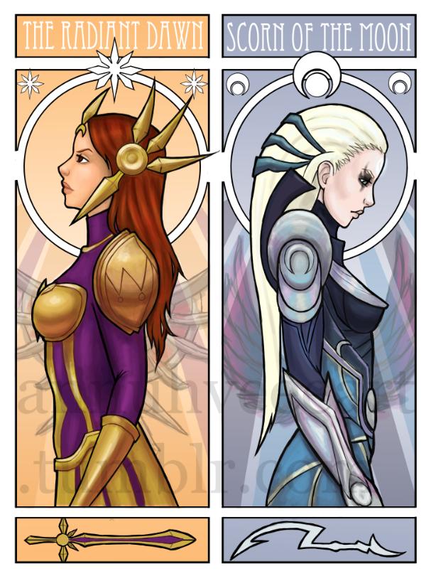Leona and Diana by iMMuhUnic0rn
