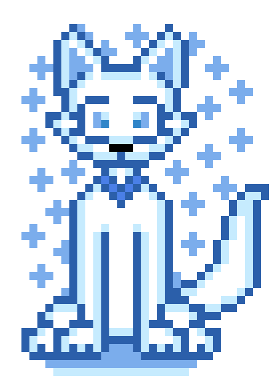 F2u Winter Blue Aesthetic Wolf Page doll by XAestheticJellybeanX