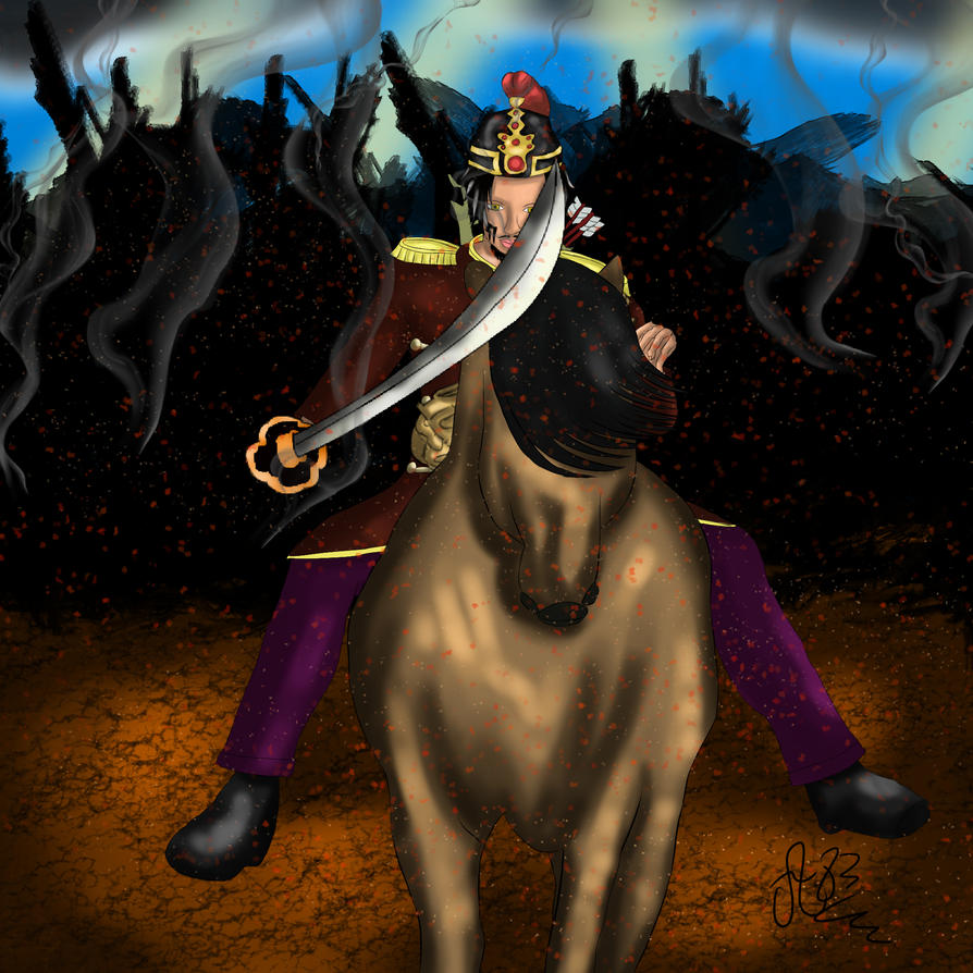 Warrior after battle by Avrileur83