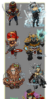 League of Legends Chibis by AmyNinkai