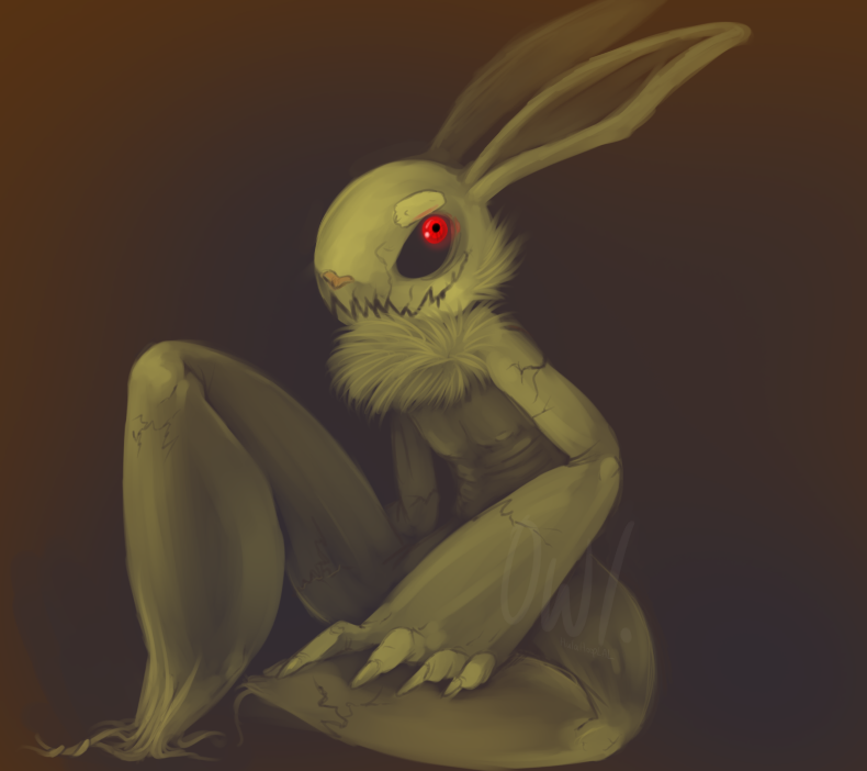 Scarecrow rabbit by HulaHoopLAL