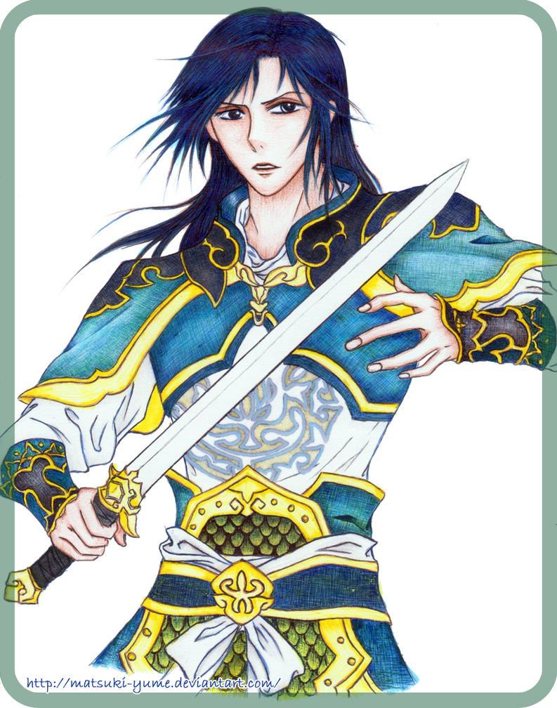 The blue knight by matsuki-yume
