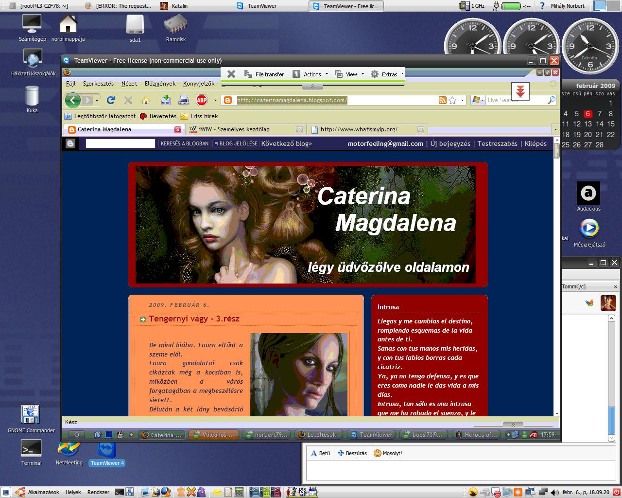Ubuntu Desktop - 6th of February, 2009 by norbert79