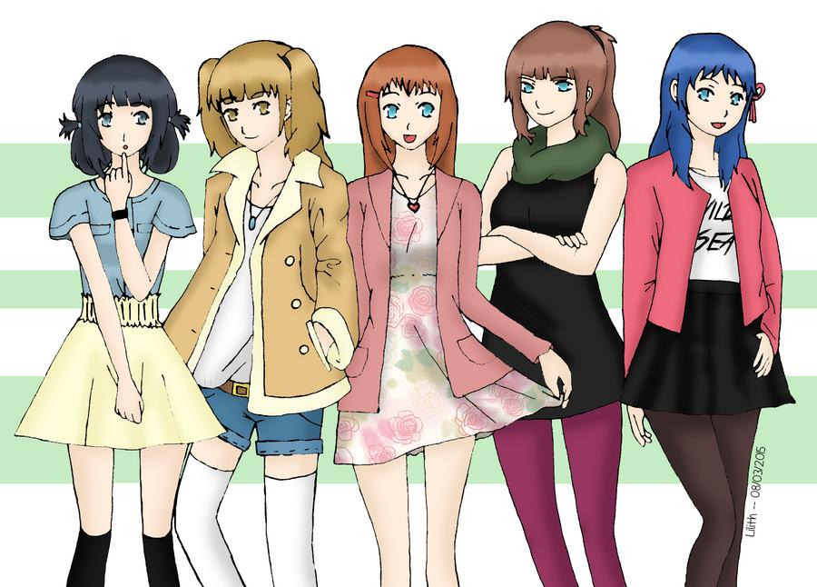 Nagi no Asukara - Fashion Study by lilith-lips