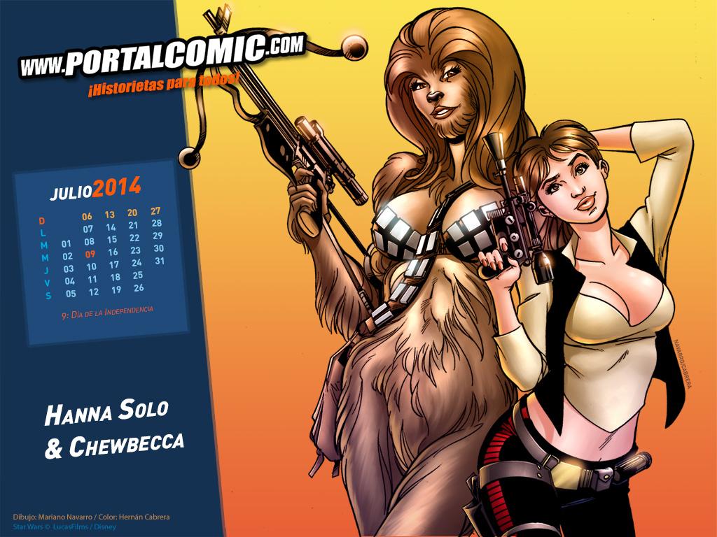 Hanna Solo and Chewbecca by PortalComic