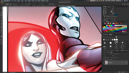 'Caballero Rojo' _ Work in Progress by PortalComic