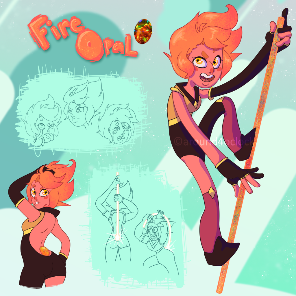 Color Scheme Obsidian Gemsona Fire Opal By Around4oclock On Deviantart