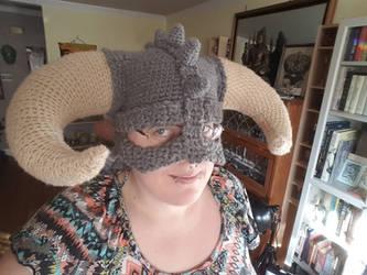 Crochet Viking Hat by CreativeExcess