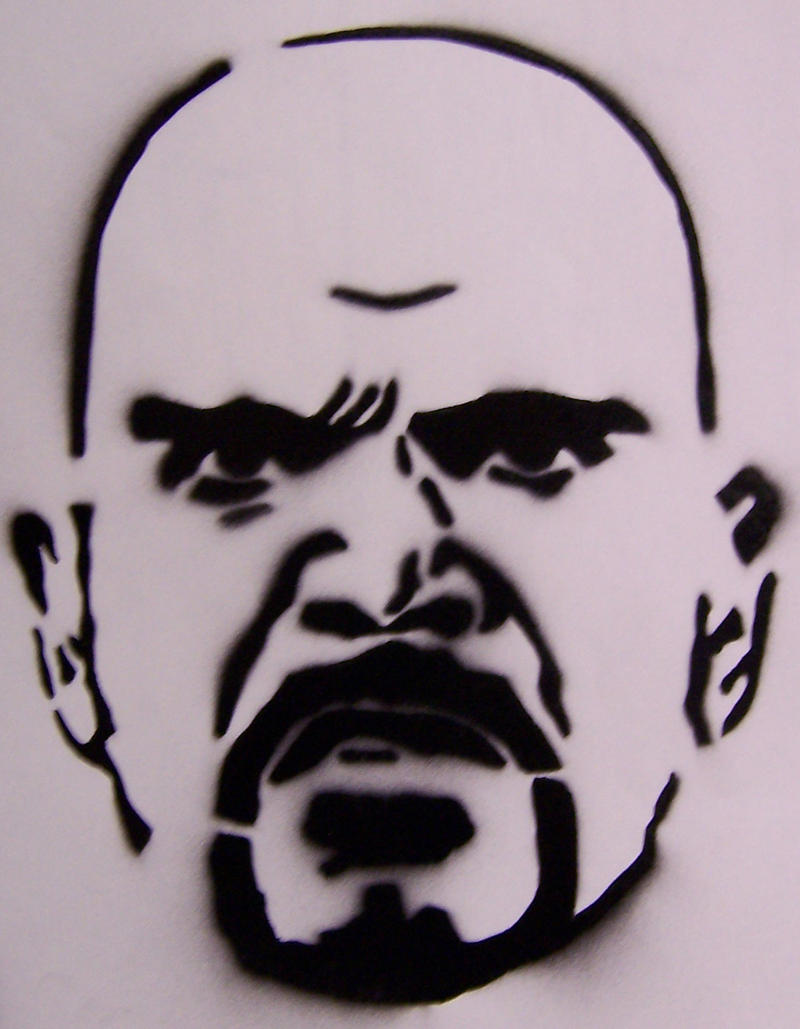 Stencil- Johnny Klebitz by theraineydaze