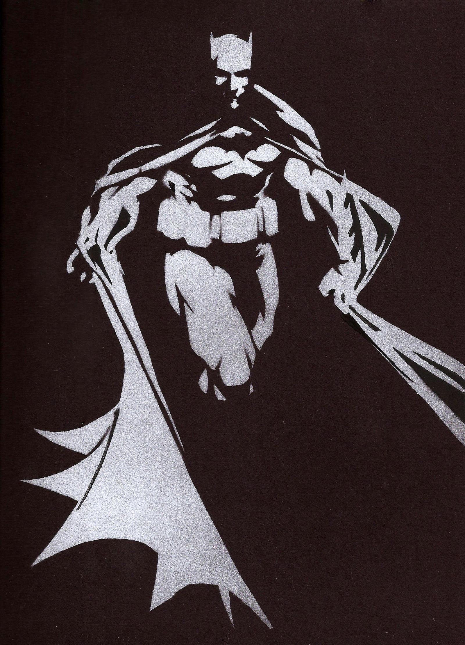 Batman - Stencil by theraineydaze