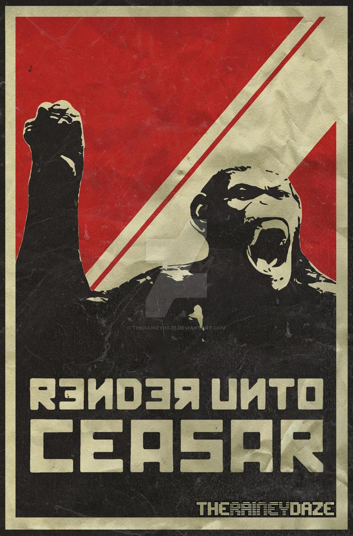 Render Unto Ceasar Poster by theraineydaze