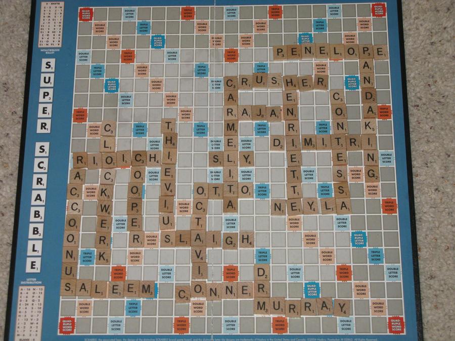 Sly Cooper Scrabble Board by SlyCooperRocks101