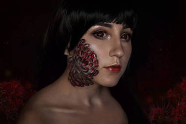 Ai Enma - cosplay facepaint and makeup - Hell Girl by Juriet