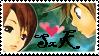 Sora and Kairi Stamp by AngelShizuka
