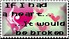If I had a heart Stamp by AngelShizuka