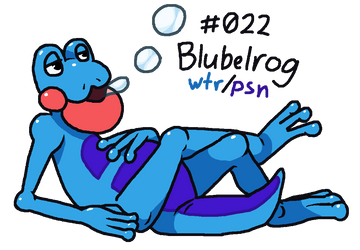 Fakemon Feature: Blubelrog by Involuntary-Twitch