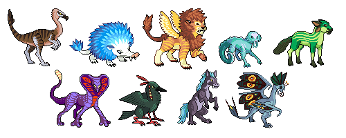 Monster Trainer Sprites Preview By Involuntary Twitch On