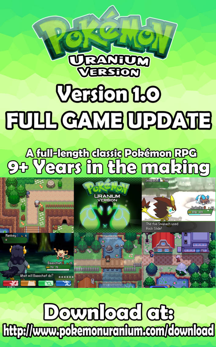 Pokemon Uranium FULL GAME Available Now
